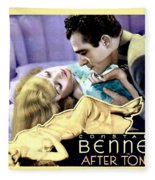 1933 - After Tonight Motion Picture Poster - Constance Bennet - Gilbert Roland - Color Fleece Blanket