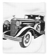 Cadillac Victoria V 16 Convertible Fleece Blanket