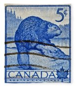 1954 Canada Beaver Stamp Fleece Blanket
