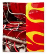 Hot Rod Art Work And Engine Fleece Blanket