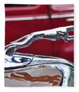 1934 Ford 6 Wheel Equip Hood Ornament Fleece Blanket