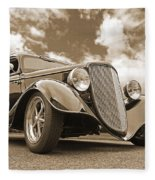 1934 Ford Coupe In Sepia Fleece Blanket