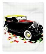 1934 Ford Phaeton V8  Fleece Blanket
