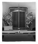 1934 Packard Black And White Fleece Blanket