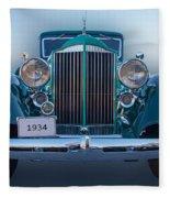 1934 Packard Super 8 Fleece Blanket