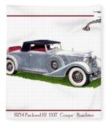 1934 Packard Twelve 1107 Coupe Fleece Blanket
