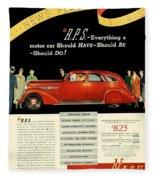 1935 - Nash Aeroform Automobile Advertisement - Color Fleece Blanket
