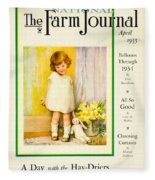 1935 - The National Farm Journal Magazine Cover April - Color Fleece Blanket