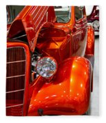 1935 Orange Ford-front View Fleece Blanket