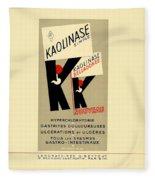 1936 - Kaolinase Drug Advertisement - Color Fleece Blanket