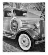 1936 Chevrolet Pick Up Truck Painted Bw   Fleece Blanket