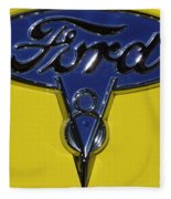 1936 Ford Pickup Emblem Fleece Blanket