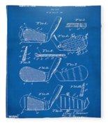 1936 Golf Club Patent Blueprint Fleece Blanket