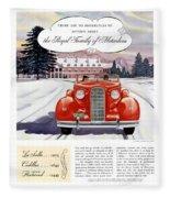 1936 - Lasalle Convertible Automobile Advertisement - Color Fleece Blanket