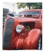 1936 Plymouth Two Door Sedan Front And Side View Fleece Blanket