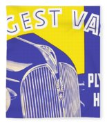 1937 - Plymouth Automobile Advertisement - Color Fleece Blanket