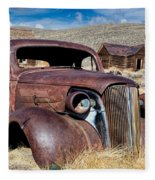 1937 Chevrolet Coupe At Bodie Fleece Blanket