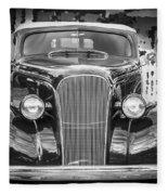 1937 Chevrolet Custom Convertible Bw Fleece Blanket
