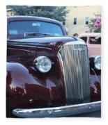 1937 Chevy Two Door Sedan Front And Side View Fleece Blanket