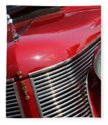 1937 Desoto Front Grill And Head Light 7285 Fleece Blanket