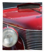 1937 Desoto Front Grill And Head Light-7289 Fleece Blanket
