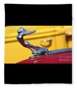 1937 Desoto Hood Ornament-7277 Fleece Blanket