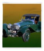 1937 Jaguar S S Onehundred  Fleece Blanket