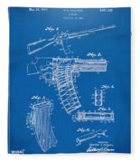 1937 Police Remington Model 8 Magazine Patent Artwork - Blueprin Fleece Blanket