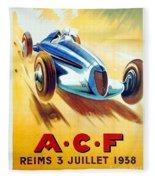 1938 - Automobile Club De France Poster - Reims - George Ham - Color Fleece Blanket