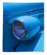1938 Blue Plymouth Coupe Fleece Blanket