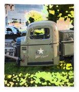 1938 Chevy Pick Up Truck Rat Rod Fleece Blanket