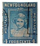 1938 Queen Elizabeth II Newfoundland Stamp Fleece Blanket