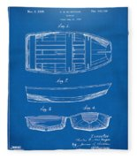 1938 Rowboat Patent Artwork - Blueprint Fleece Blanket