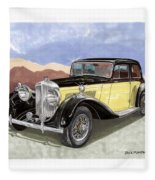 1939 Bentley Mark Four Sport Sedan Fleece Blanket