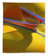 1939 Chevy Hood Ornament Fleece Blanket