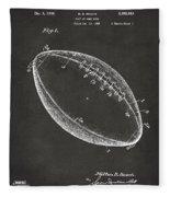 1939 Football Patent Artwork - Gray Fleece Blanket