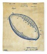 1939 Football Patent Artwork - Vintage Fleece Blanket