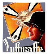 1939 German Luftwaffe Recruiting Poster - Color Fleece Blanket