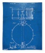 1939 Snare Drum Patent Blueprint Fleece Blanket