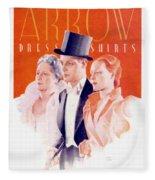 1940 - Arrow Shirts Hans Flato Advertisement - 1940 Fleece Blanket