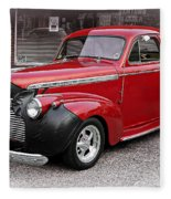 1940 Chevy Coupe Fleece Blanket