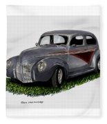 1940 Ford Custom Street Rod Fleece Blanket