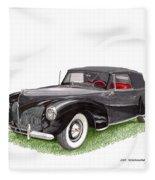 Lincoln Zephyr Cabriolet Fleece Blanket