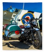 1940 Triumph And Supermarine Mk959 Spitfire  Fleece Blanket