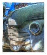 1940s Antique Chevrolet Hood View Fleece Blanket
