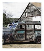 1940s Era Packard Wood-panel Wagon Fleece Blanket