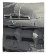1940's Ford Truck Black And White Fleece Blanket