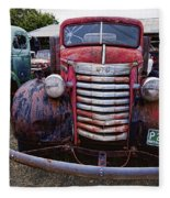 1940s G M C Truck Fleece Blanket