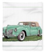 1941 Lincoln V-12 Continental Fleece Blanket