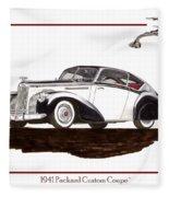 Packard Custom Coupe 120 Fleece Blanket